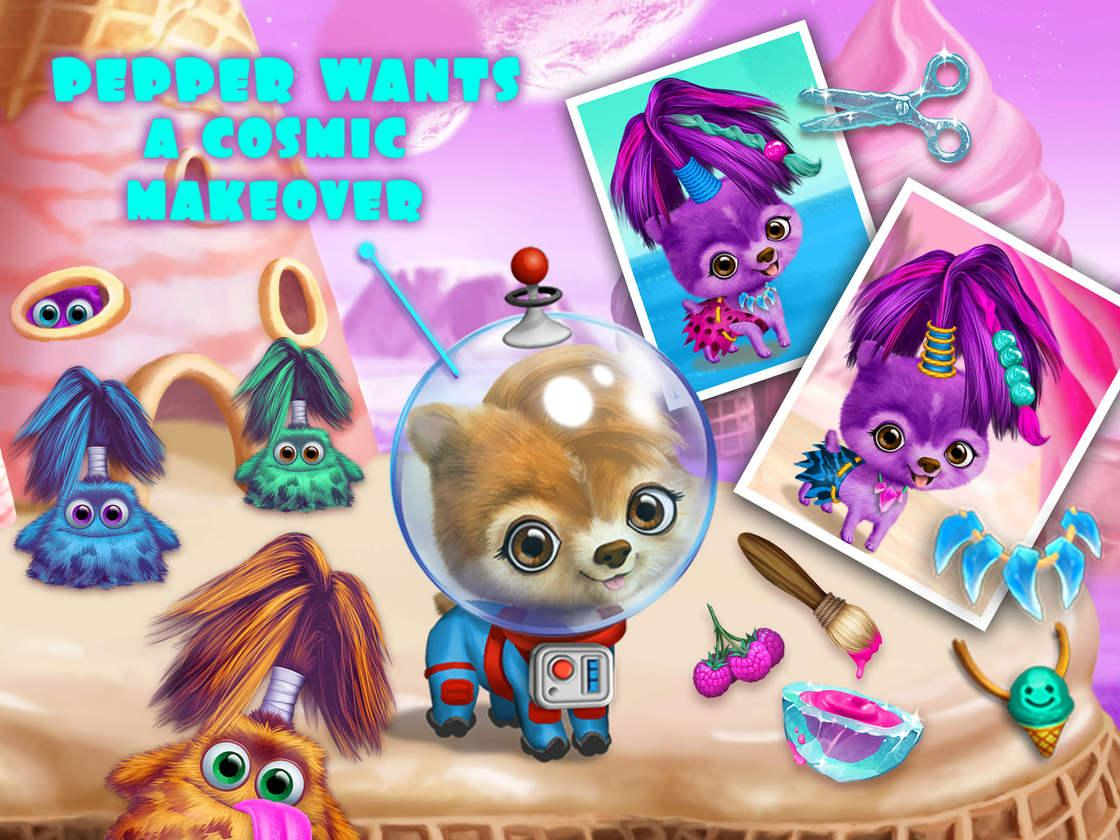 Space Animal Hair Salon Game Created With Tutotoons